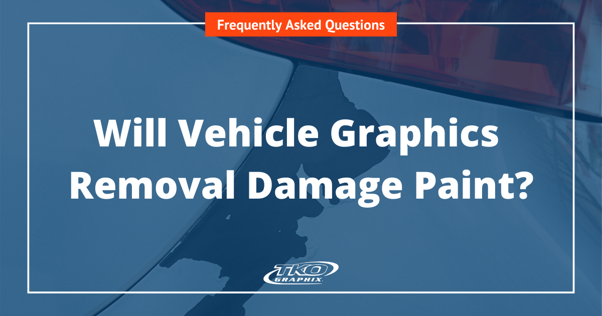Will vehicle graphics removal damage paint