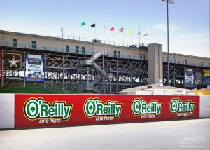 OReilly Auto Parts racing graphics wall graphics