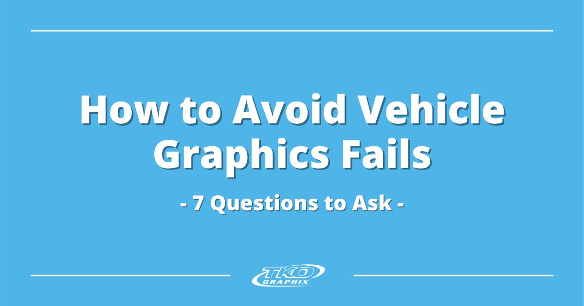 Avoid Vehicle Graphics Fails