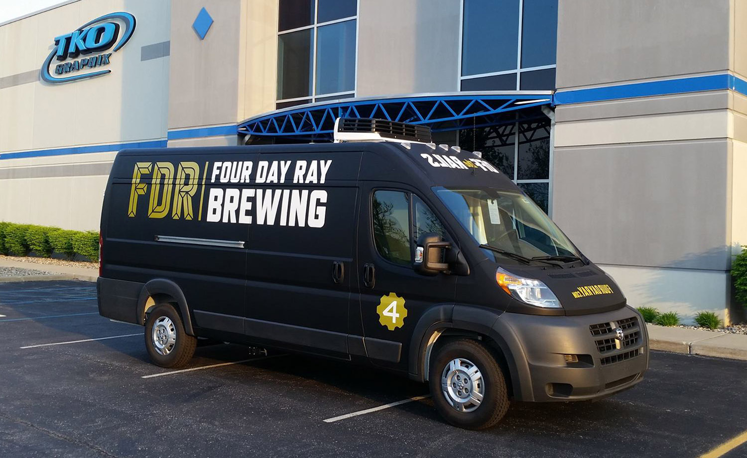 Four Day Ray Brewery Van Wrap