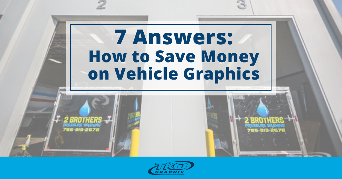 How to Save Money on Vehicle Graphics