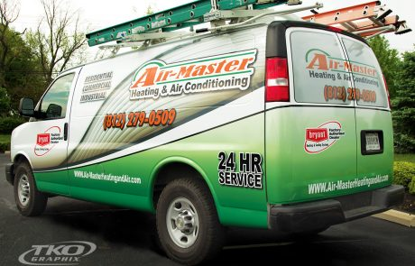 Airmaster Heating & Cooling Work Van Wrap