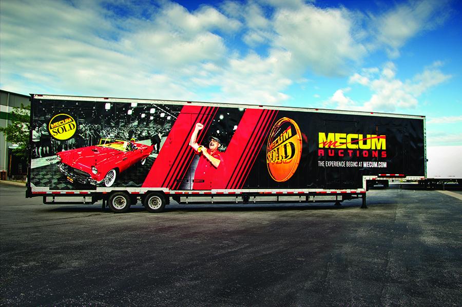 Mecum auto auction trailer