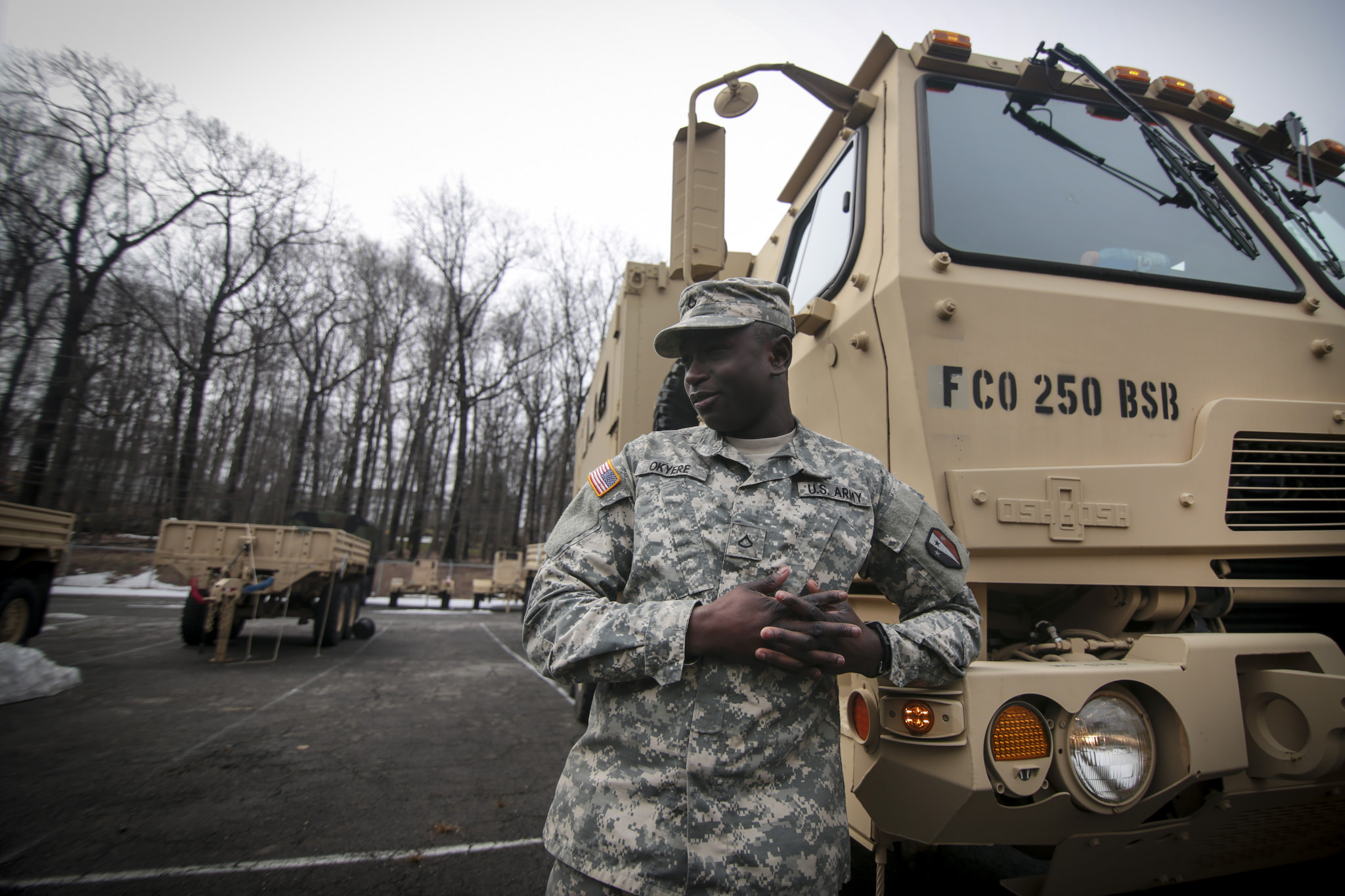 military truck driver