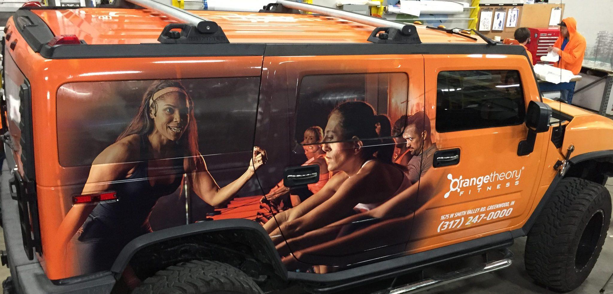 OrangeTheory fitness vehicle wrap