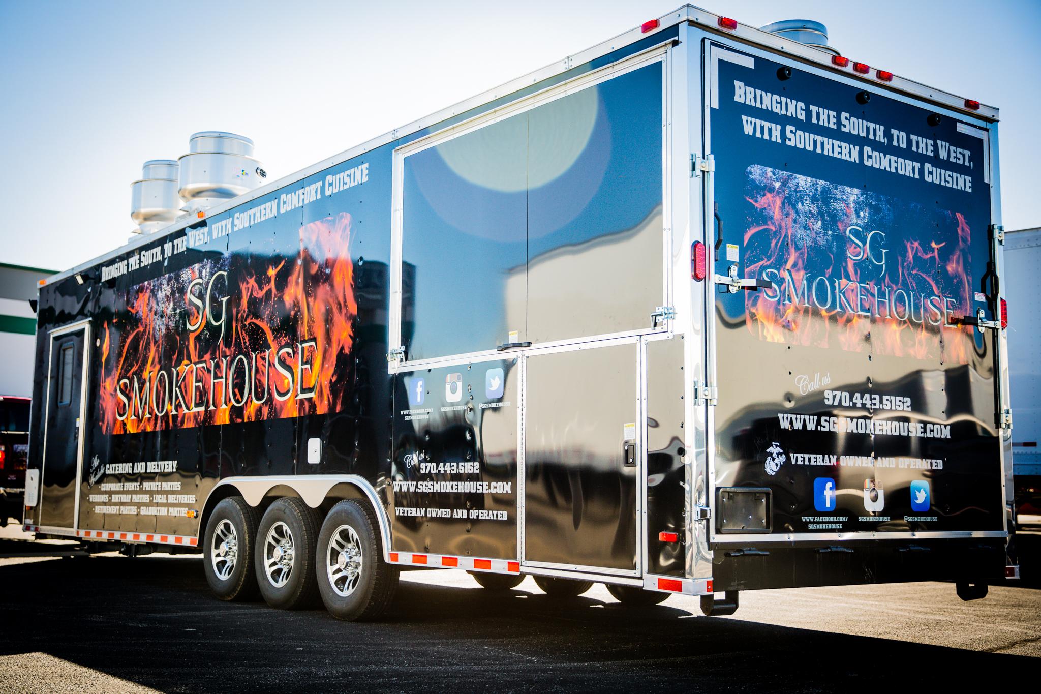 smoke house trailer wrap