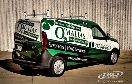 Transit Van Vehicle Wrap; O'Malias