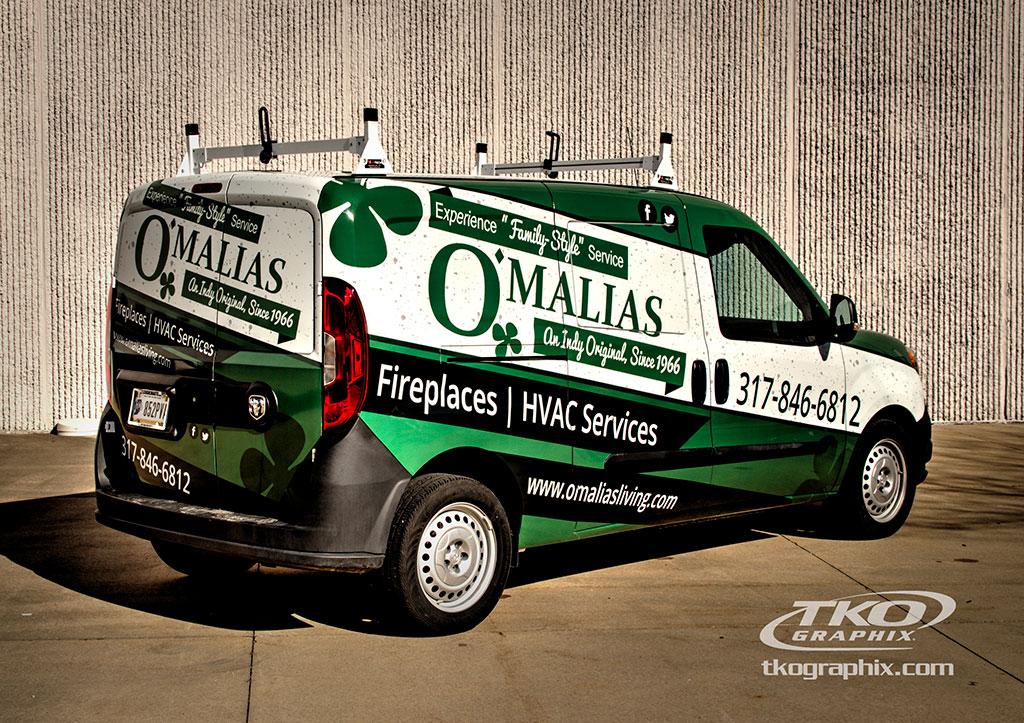 Transit Van Vehicle Wrap; O'Malias