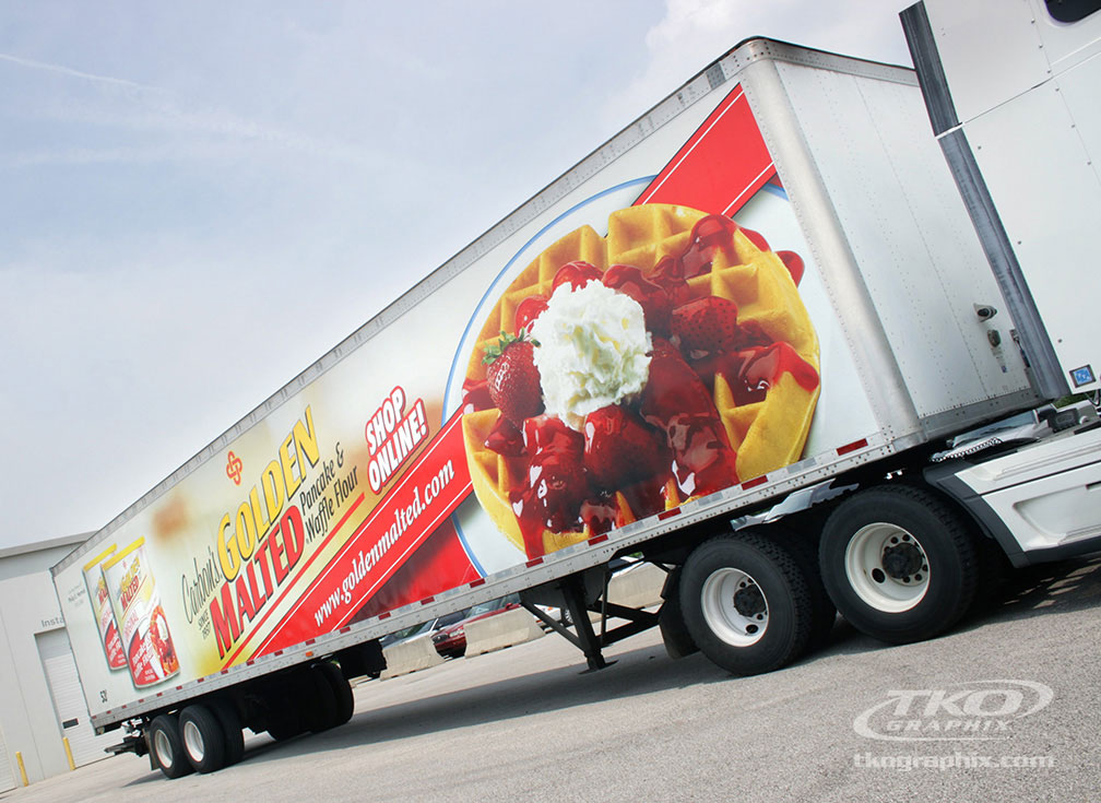 Golden Malted Tractor Trailer Wrap