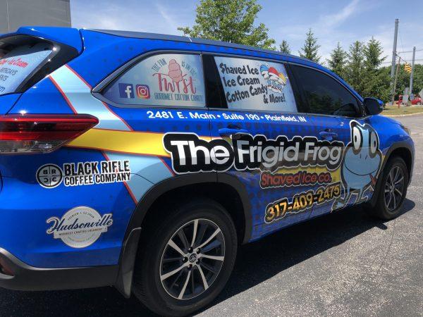 Frigid Frog vehicle graphics