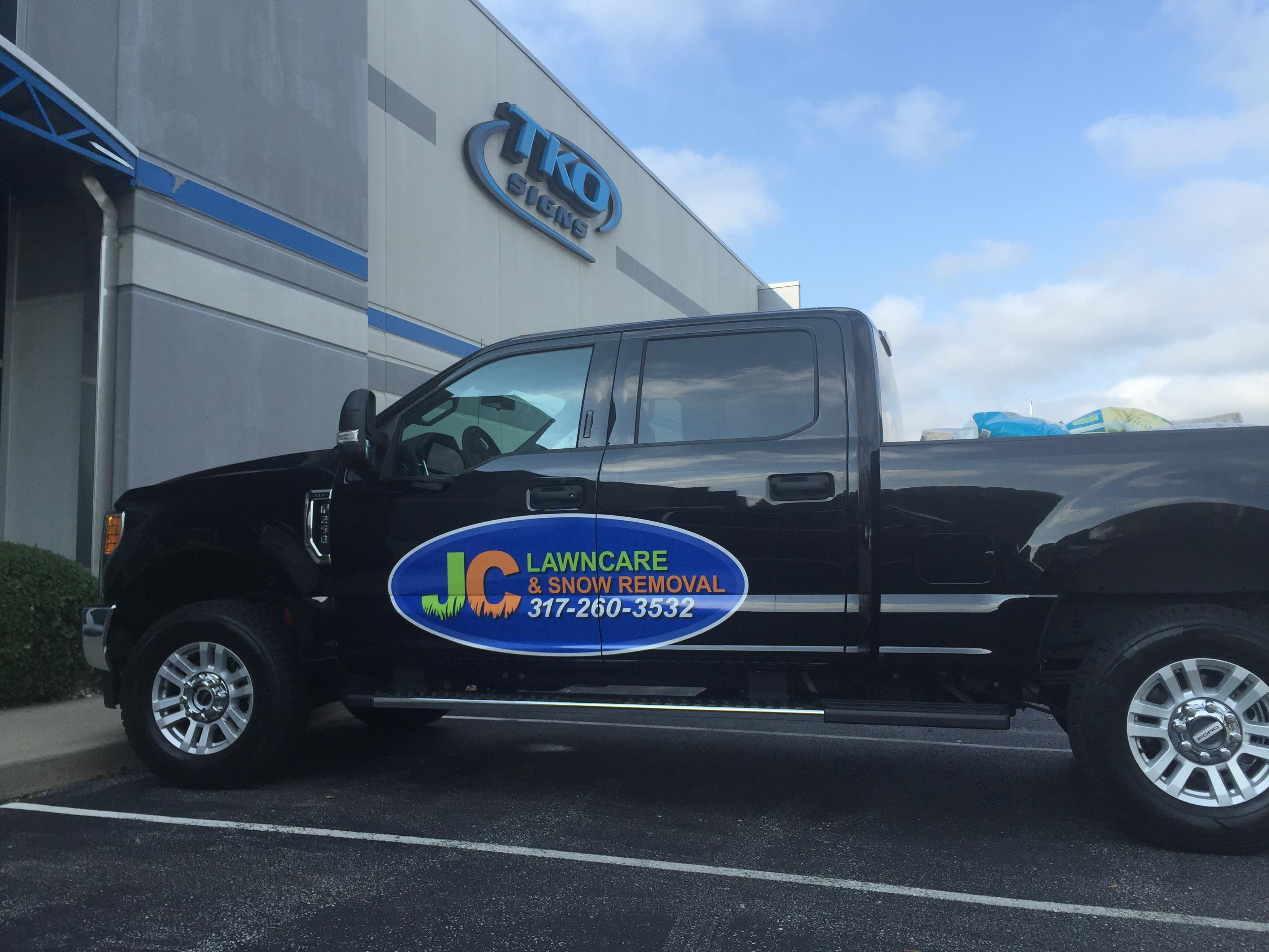 JC Lawncare Truck Graphics