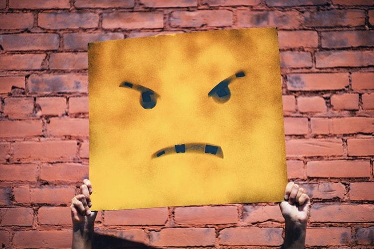 upset client
