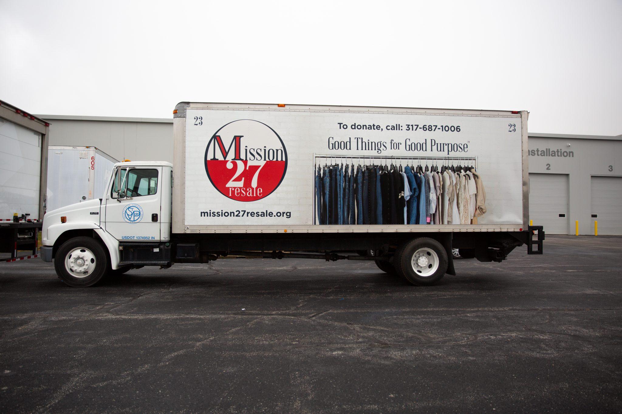 Mission 27 Resale Box Truck Wrap