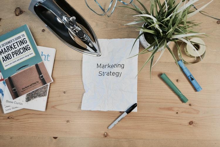 Marketing Strategy Paper on Desk