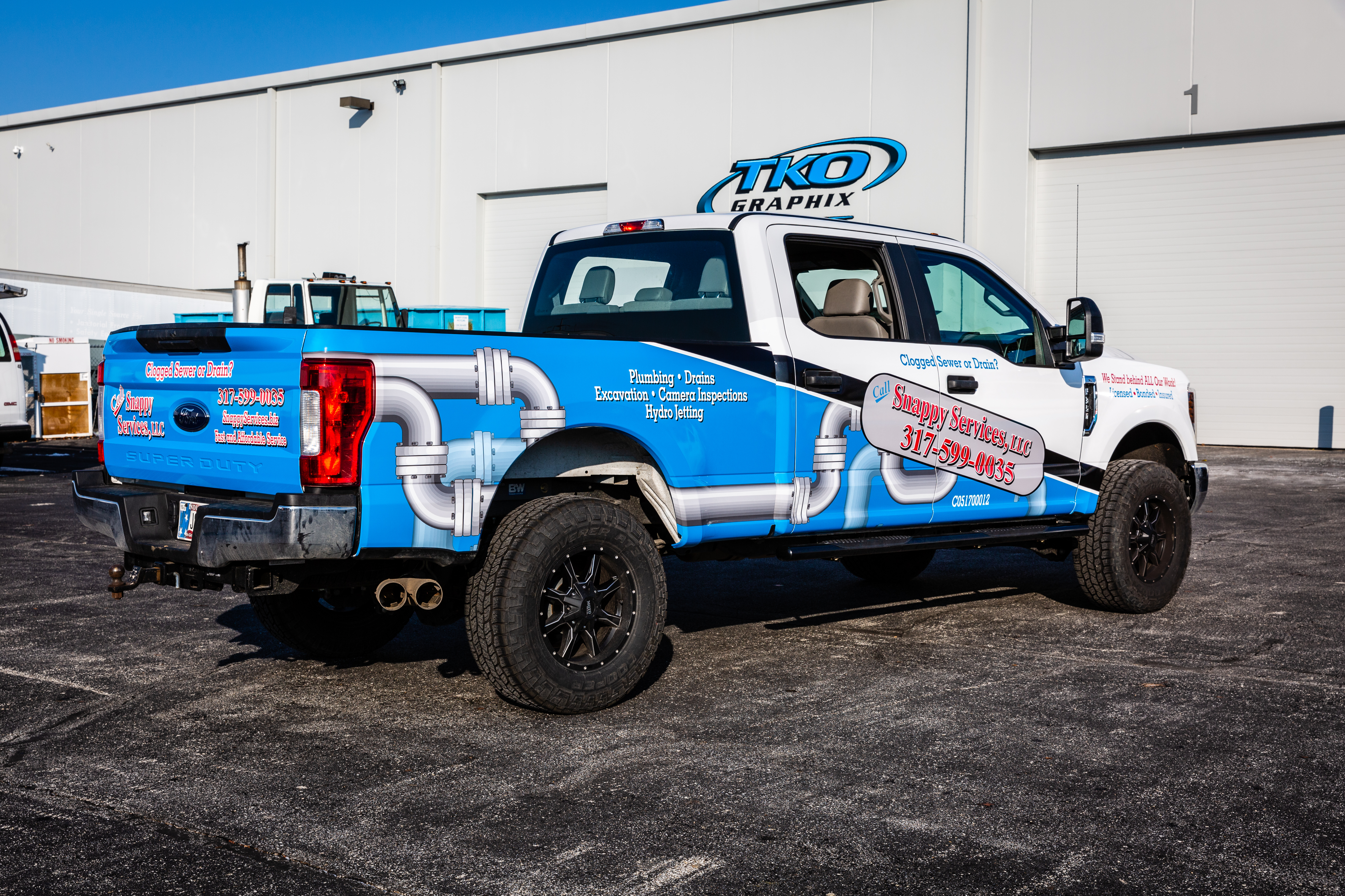 Snappy Services Pick-up Truck Wrap