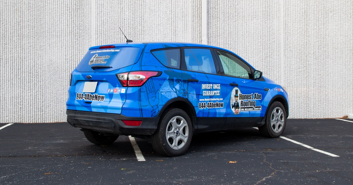SUV Wrap - Rear and Side View