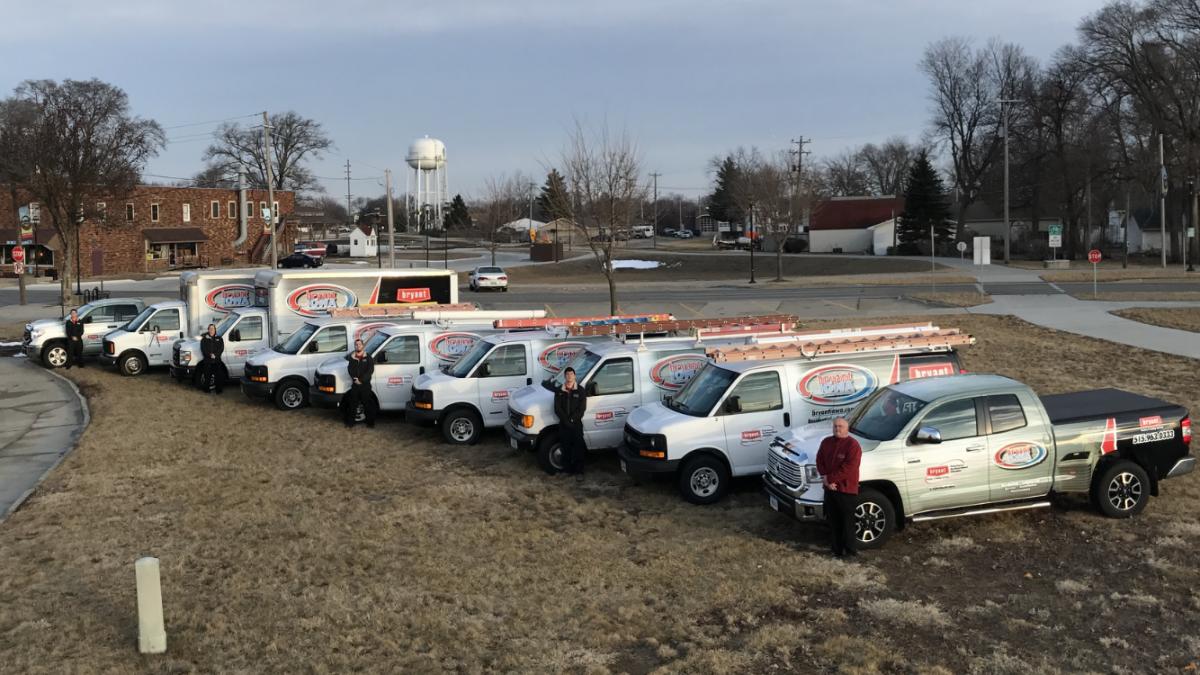 HVAC fleet of vehicles