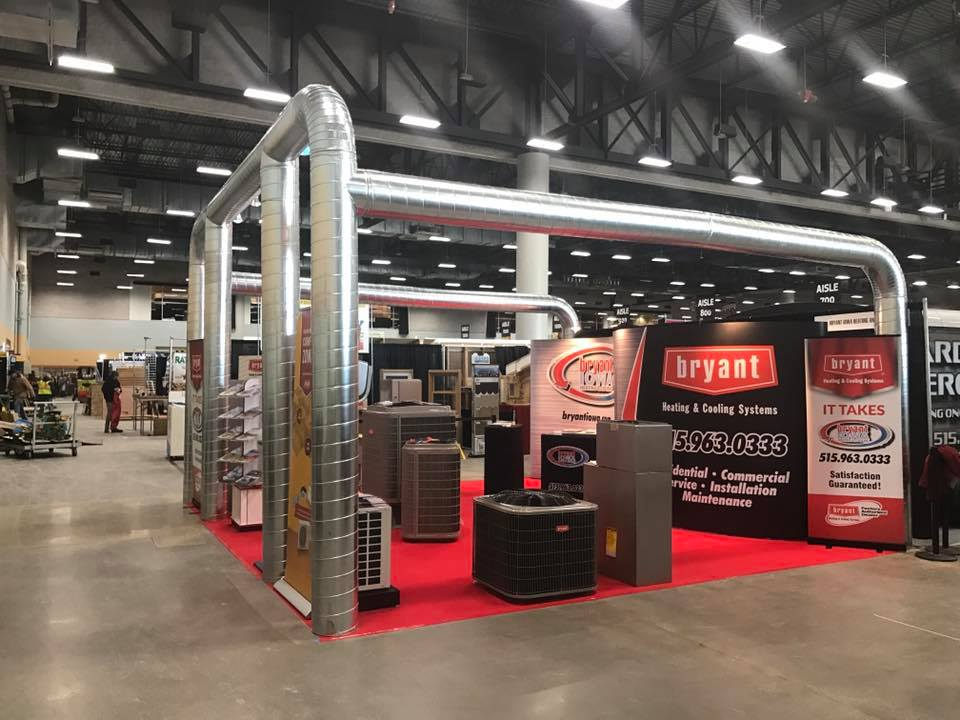 Bryant heating and cooling trade show booth