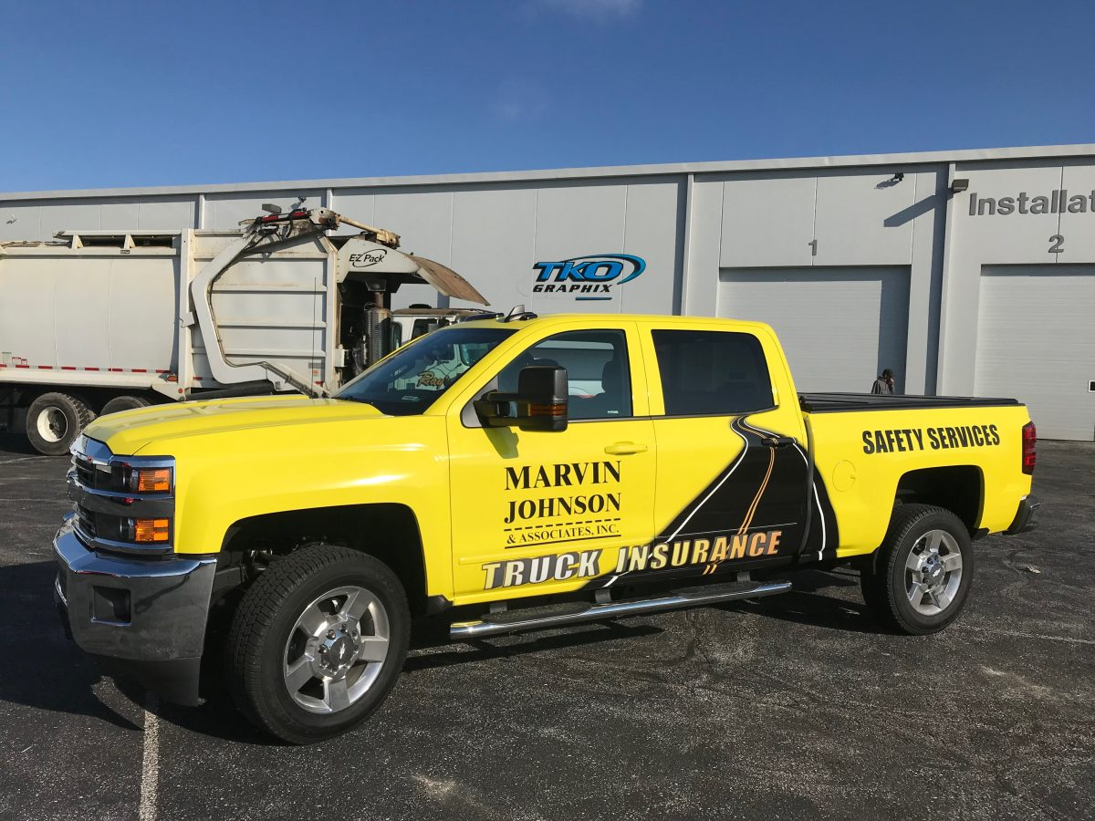 pick up truck vehicle wrap - marvin johnson