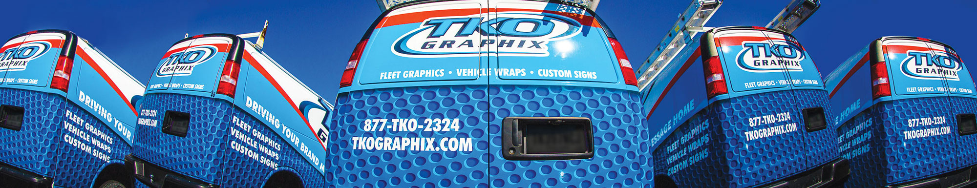 Fleet of TKO Graphix Van Wraps