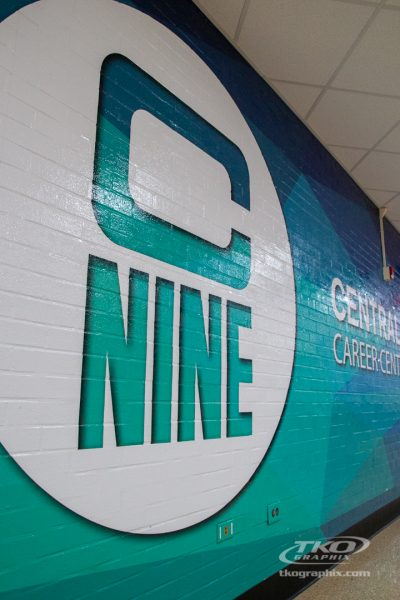 Central Nine Career Center Wall Graphic