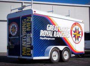 Great Lakes Royal Rangers Trailer Graphics Installation