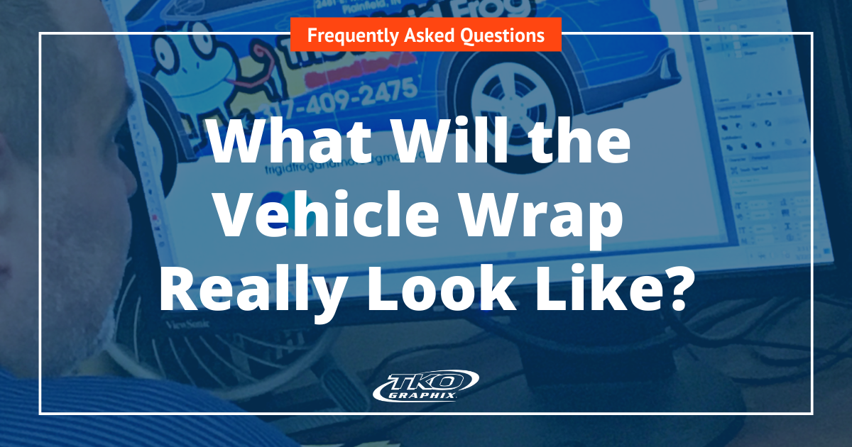 What will the vehicle wrap really look like
