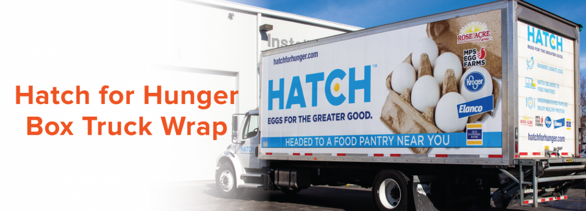 Hatch for Hunger Box Truck Wrap
