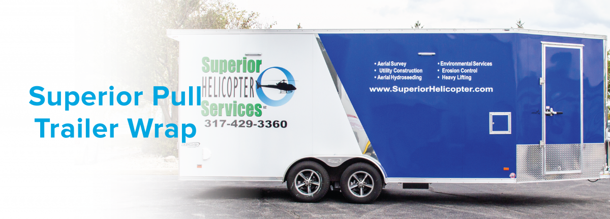 Superior Helicopter Services Trailer Wrap