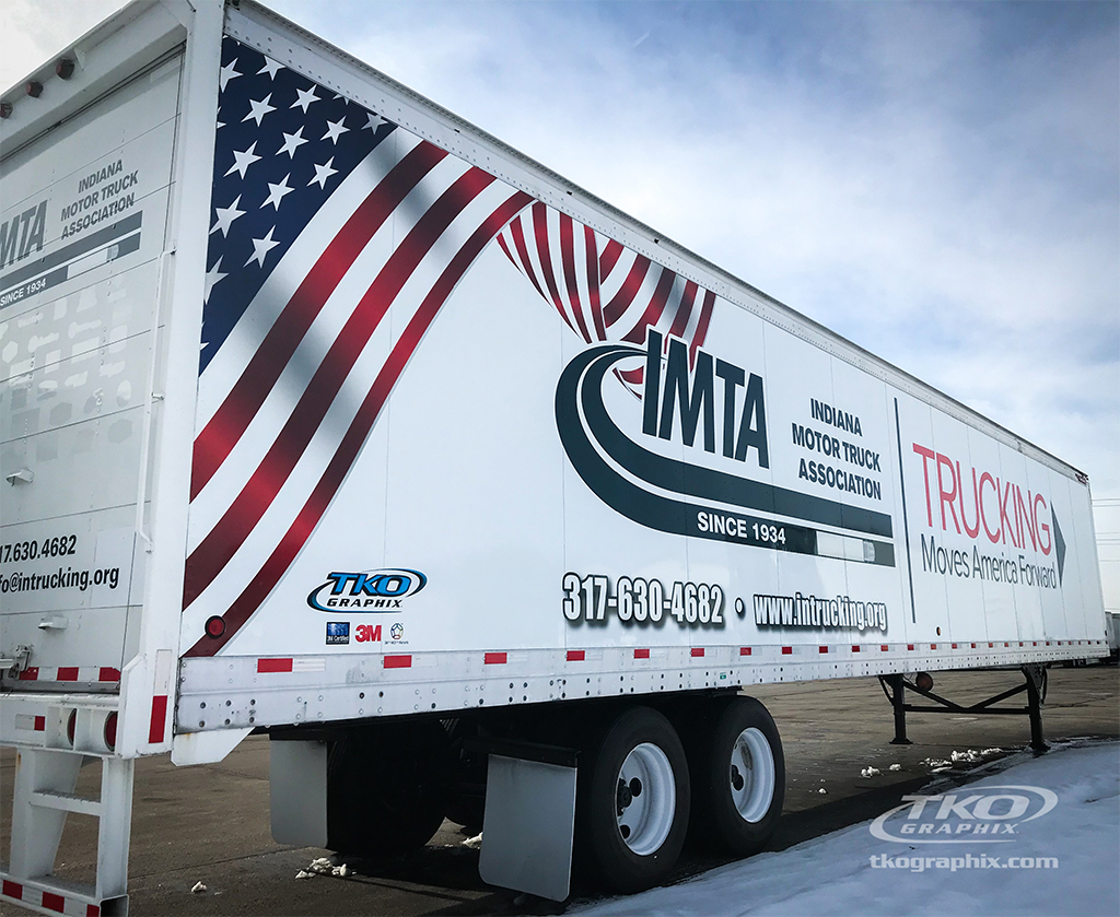 IMTA Put the Phone Down Trailer Wrap