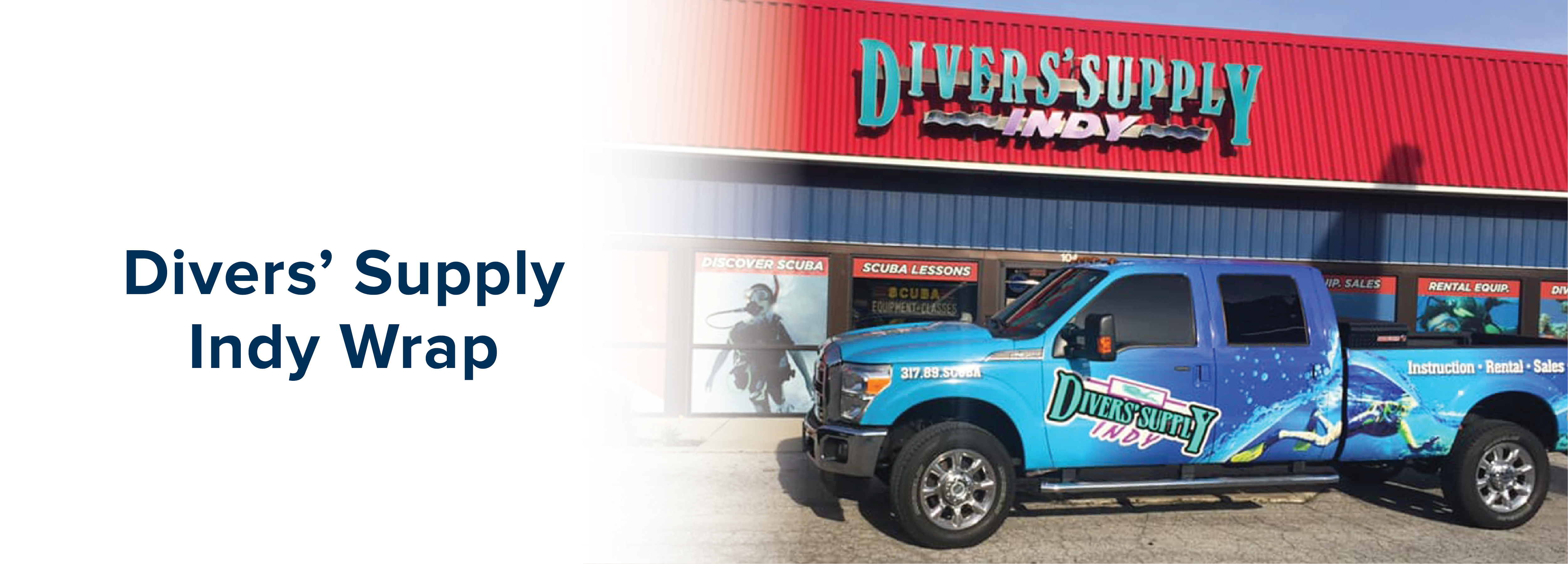 Divers' Supply Indy Pickup Truck Wrap