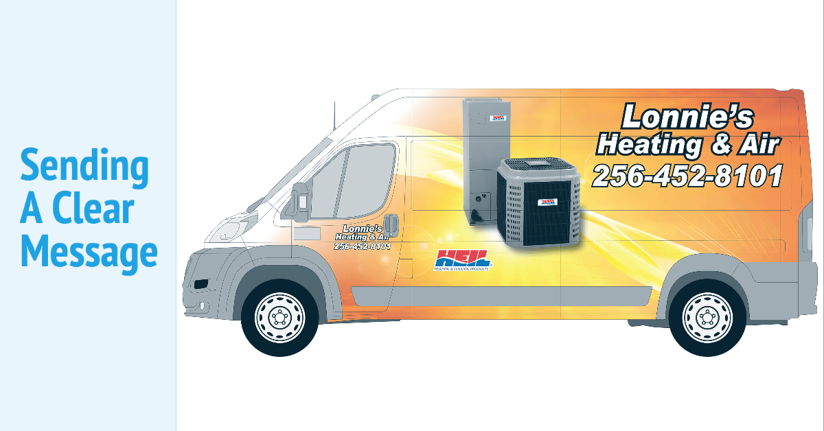 Lonnie's Heating and Air Wrapan Wrap - HVAC