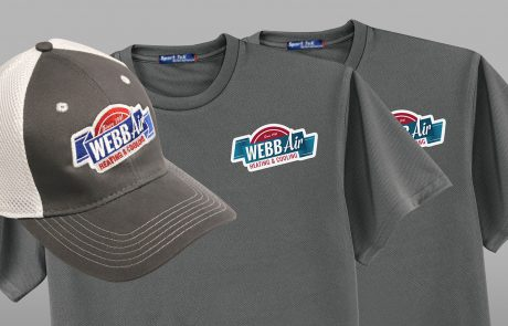 Shirts and Hat with Webb Air logo