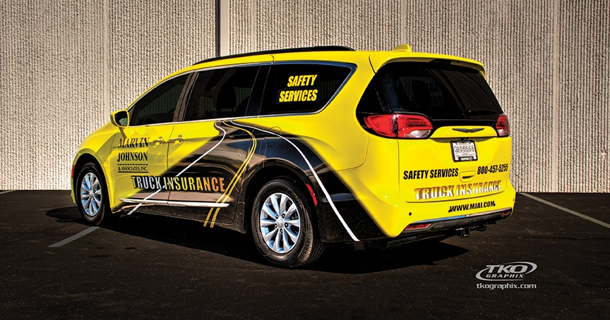 mini-van vehicle wrap - rear and side view