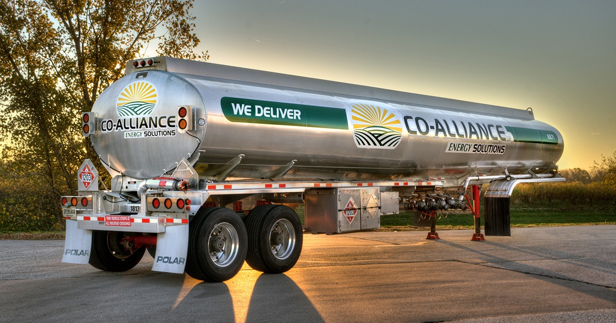 Fuel Tanker with Decals - Co-Alliance Energy Solutions