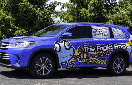 Toyota Highlander Wrapped with Bright Blue Vehicle Graphics