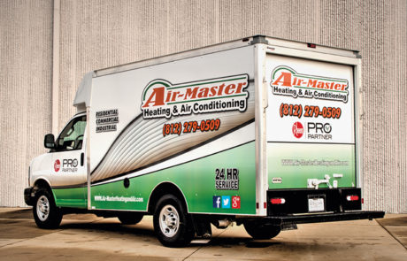 Box Truck HVAC Graphics Wrap - Air-Master Heating & Air Conditioning