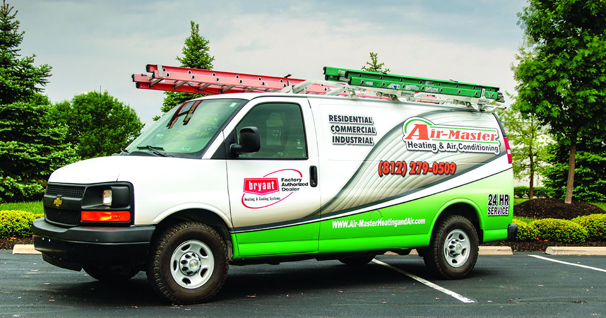 Chevy Van HVAC Graphics Wrap - Air-Master Heating & Air Conditioning