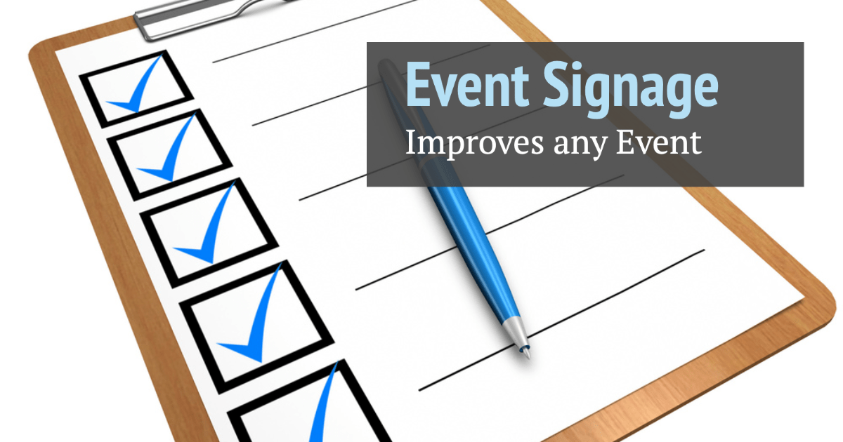 Event Signage Checklist