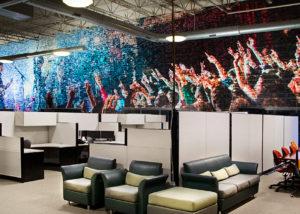PERQ Office Wall Graphics - Concert Scene