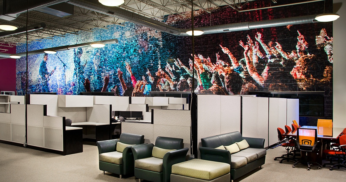 PERQ Office Wall Graphics - Concert Scene