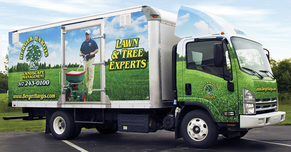 Berger Hargis Landscape Management Truck Wrap