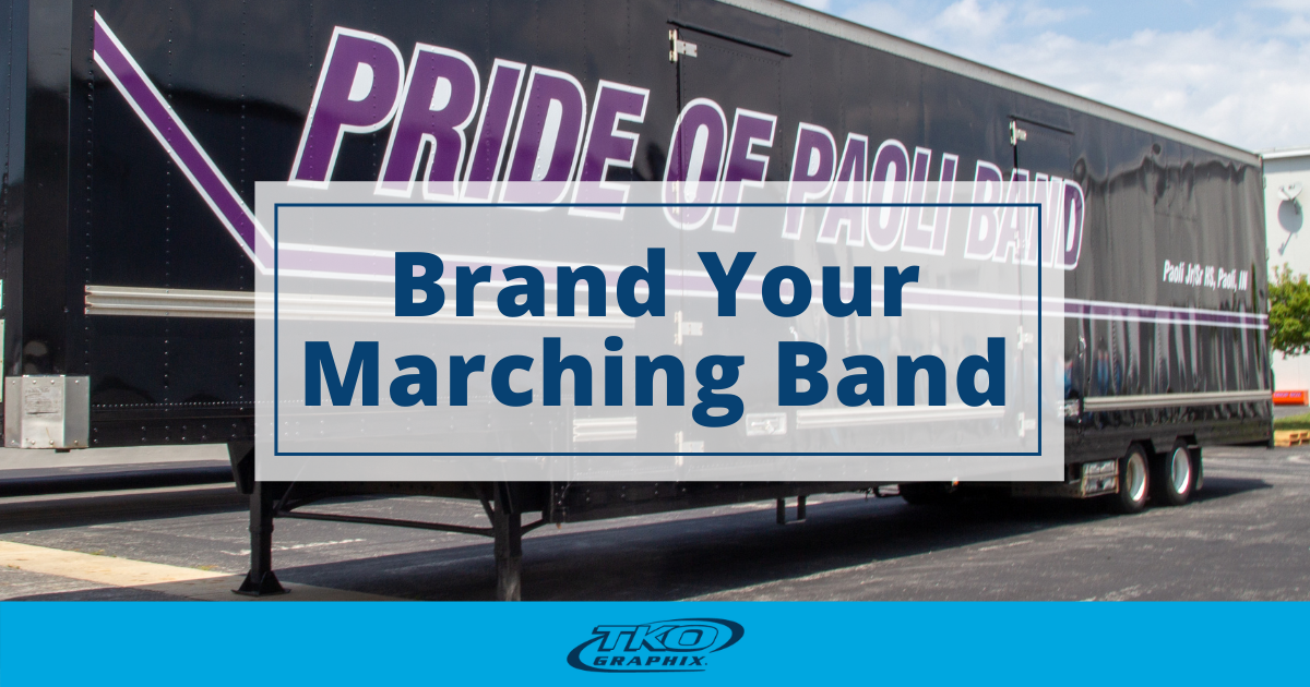 Marching Band Trailer Wrap