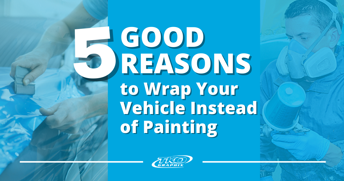 Wrap your vehicle instead of painting
