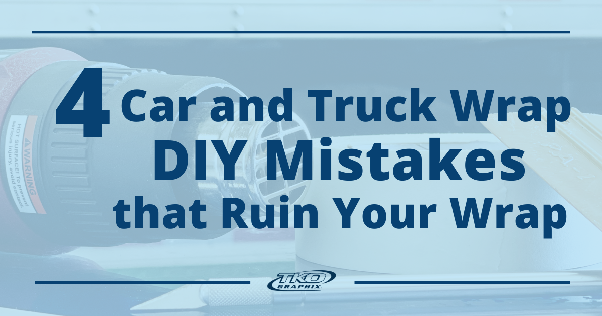 4 Car and Truck Wrap DIY Mistakes